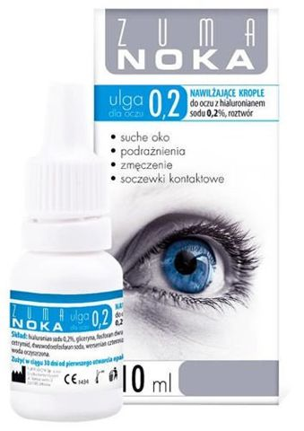 ZUMA NOKA Ulga dla oczu 0,2% krople nawilżające 10ml