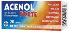 ACENOL FORTE 0,5g x 20 tabletek