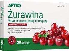 APTEO Żurawina x 30 tabletek