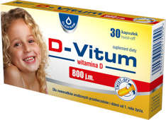 D-VITUM 800 j.m. Witamina D dla niemowląt x 36 kapsułek twist-off