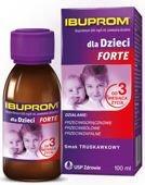 Ibuprom Forte 200 mg/5ml zawiesina o smaku truskawkowym 100ml