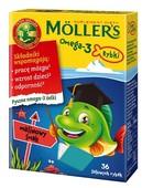 Mollers Omega-3 Rybki żelki malinowe x 36 sztuk
