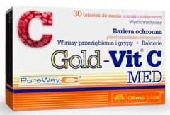 OLIMP Gold-Vit C Med x 30 tabletek do ssania