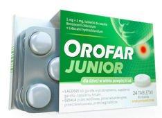 Orofar Junior x 24 tabletki do ssania