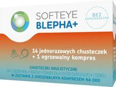 Softeye Blepha Plus chusteczki okulistyczne x 14 szt. + ogrzewalny kompres x 1 sztuka