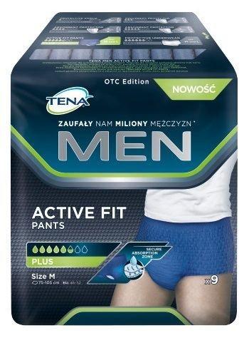 1037f0f842b43 TENA Men Active Fit Pants Plus rozmiar M x 9 sztuk | cena, opinie ...