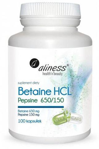 ALINESS Betaine HCL Pepsyna 650/150 mg x 100 kapsułek