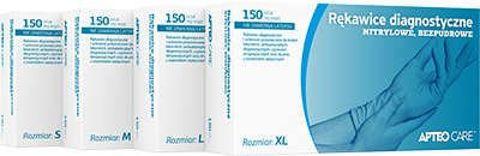 APTEO Care rękawice diagnostyczne nitrylowe bezpudrowe rozmiar M x 150 sztuk