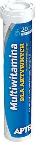APTEO Multiwitamina dla aktywnych o smaku ananasowym x 20 tabletek musujących