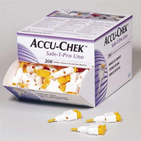 Accu-Chek Safe-T-Pro Uno nakłuwacz jednorazowego użytku x 200 sztuk