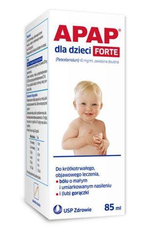 Apap dla dzieci Forte zawiesina doustna 85ml