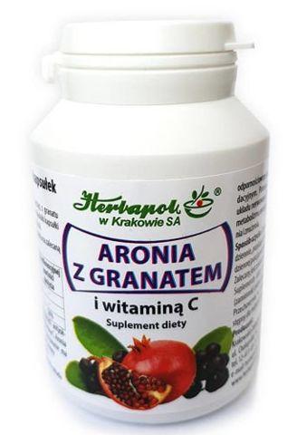 Aronia z granatem i witaminą C x 90 kapsułek