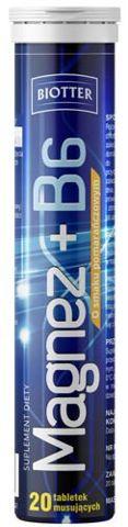 BIOTTER Magnez + witamina B6 x 20 tabletek musujących