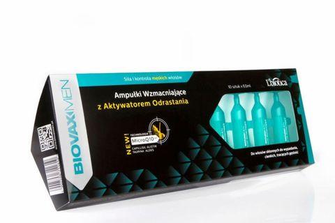 BIOVAXMEN Ampułki wzmacniające z aktywatorem odrastania x 6,5ml x 10 ampułek