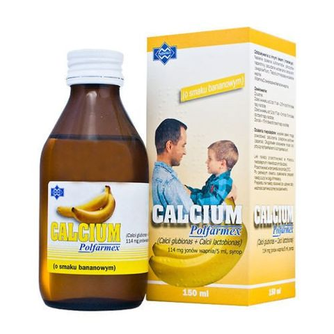 CALCIUM syrop 150ml - bananowy
