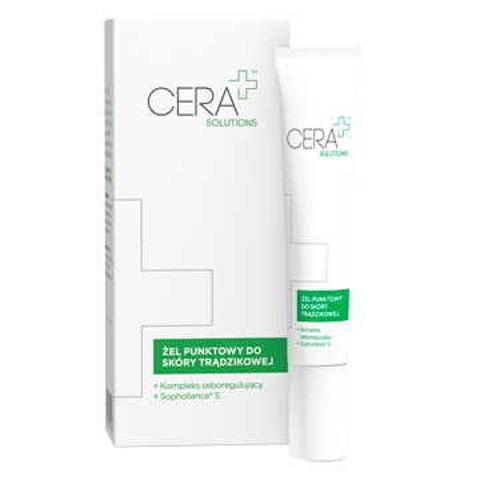 CERA+ Solutions żel punktowy do skóry trądzikowej 15ml