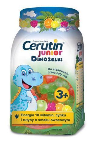 CERUTIN JUNIOR Dinożelki x 50 żelków o smaku owocowym