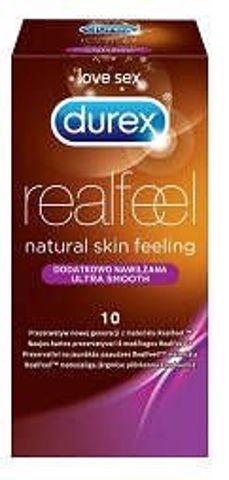 DUREX Real Feel prezerwatywa dodatkowo nawilżana x 10 sztuk