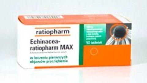 ECHINACEA Ratiopharm MAX x 100 tabletek