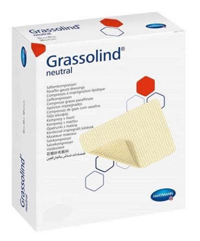 Grassolind neutral kompresy z maścią jałowe 5cm x 5cm x 10 sztuk