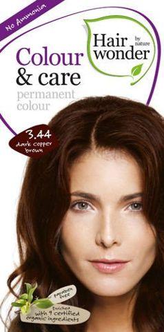 HAIRWONDER Colour & Care Farba do włosów 3.44 Dark copper brown 100ml