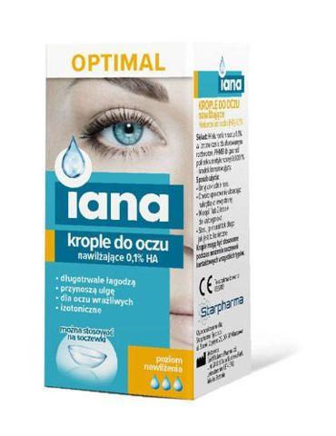 Iana Optimal Krople do oczu nawilżające 0,1% HA 10ml