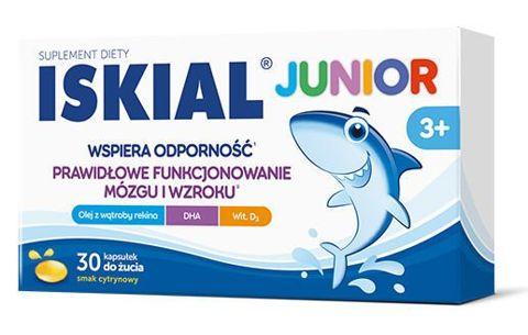 Iskial Junior x 30 kapsułek do żucia