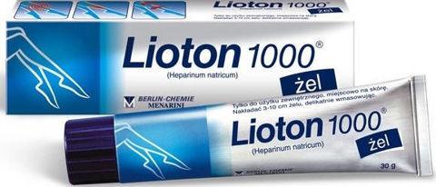 Lioton 1000 żel 30g
