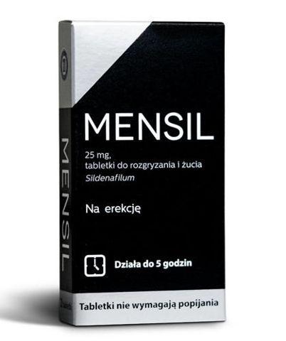 Mensil 4 tabletki 25 mg przedłużające stosunek