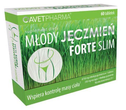 Młody Jęczmień Forte Slim x 60 tabletek