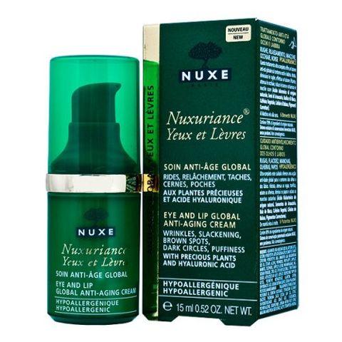 NUXE Nuxuriance krem przeciwzmarszczkowy do pielęgnacji okolic oczu i ust 15ml