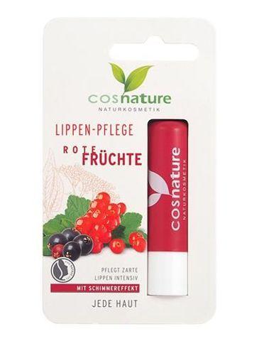 Naturalny ochronny balsam do ust z ekstraktem z czerwonych owoców 4,8g