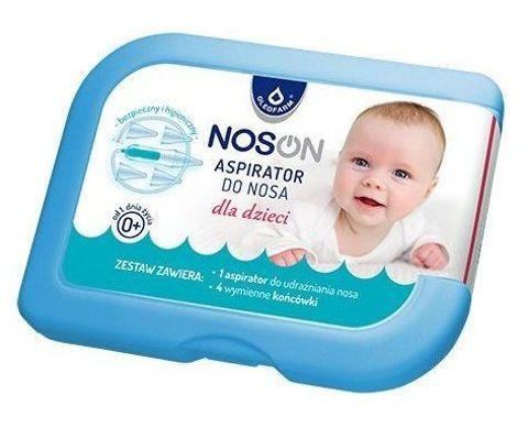 Noson Aspirator do nosa dla dzieci + 4 wymienne końcówki