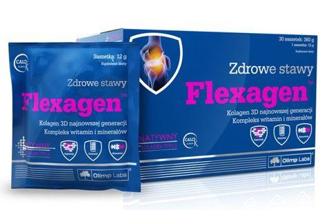 OLIMP Flexagen malinowy 12g x 30 saszetek