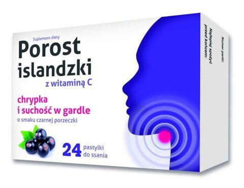 Porost islandzki z witaminą C x 24 pastylki do ssania