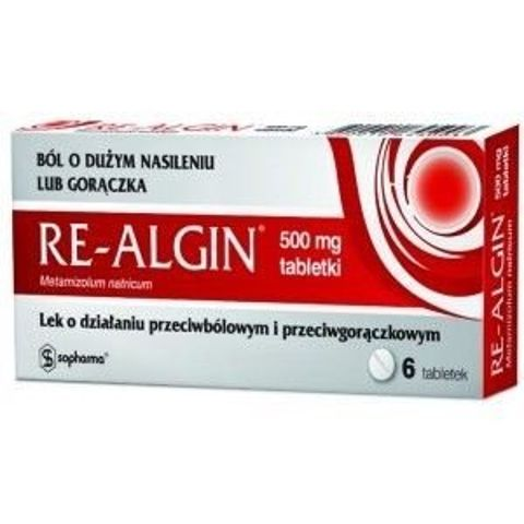 RE-ALGIN 500mg x 6 tabletek