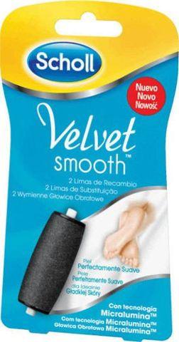 SCHOLL Velvet Smooth drobnoziarniste wymienne głowice obrotowe x 2 sztuki