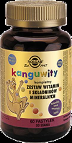 SOLGAR Kanguwity smak soczyste jagody x 60 pastylek do ssania