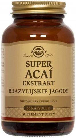 SOLGAR Super Acai ekstrakt z brazylijskiej jagody x 50 kapsułek