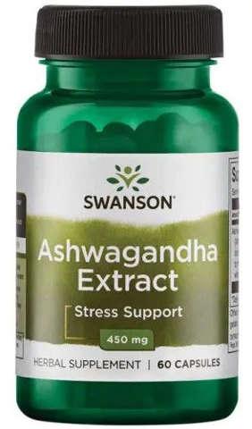 SWANSON Ashwagandha extract x 60 kapsułek