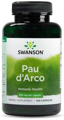 SWANSON Pau d'Arco 500mg x 100 kapsułek