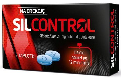 Silcontrol 25mg x 2 tabletki