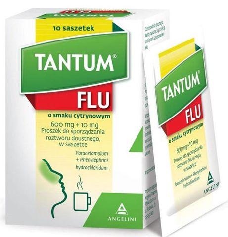 Tantum Flu smak cytrynowy x 10 sztuk