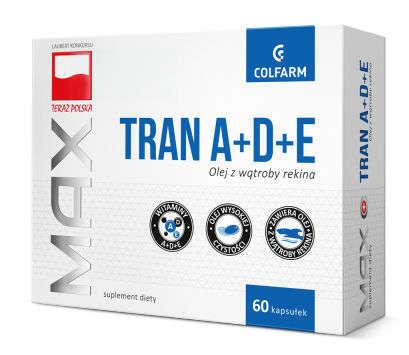 Tran z witaminami A+D+E x 60 kapsułek