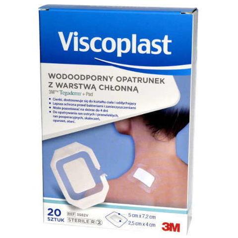 Viscoplast Tegaderm + Pad wodoodporny opatrunek z warstwą chłonną 5 x 7,2cm x 1 sztuka