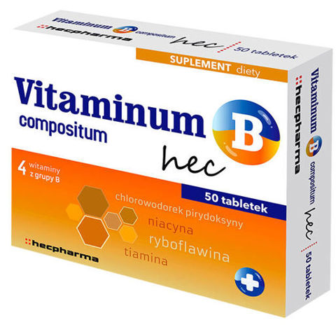 Vitaminum B compositum hec x 50 tabletek