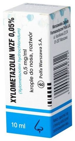 XYLOMETAZOLIN 0,05% krople 10ml