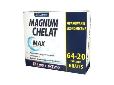 ZDROVIT Magnum Chelat Max x 64+20 (84) tabletek